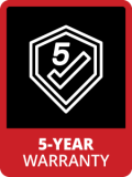 Badge 5year Warranty