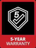 Badge 5year Warranty
