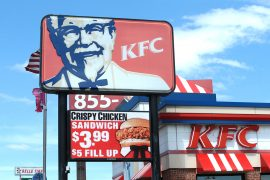 KFC full color led sign