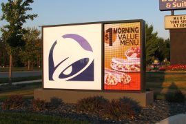 Taco Bell full color led sign