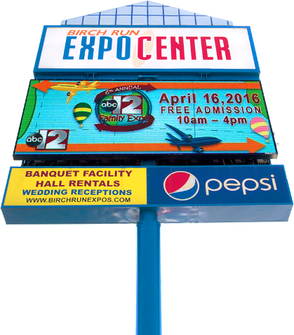 birch run expo center full color led sign