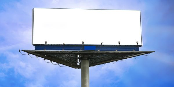 Three sided LED billboard