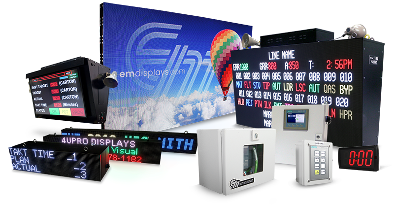 Electro-Matic Visual Industrial Andon LED Displays and Systems