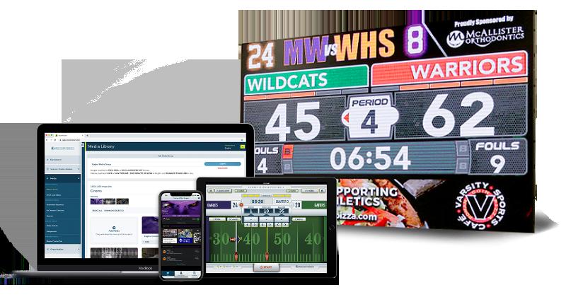 Digital LED Scoreboards + Scorevision Software